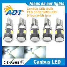 High Quality Canbus Error Free 6SMD 5630 T10 Canbus LED Lighting