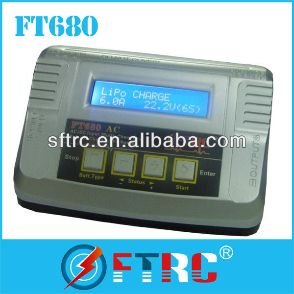 2-6s RC battery charger /discharger FT680 r for RC car/helicopter/airplane/quadcoper/boat/toy/model/DJI Phantom