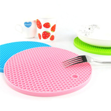 Silicone Heat Resistant Coasters Cup Insulation anti slip round Mat for kitchen