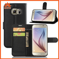 Hot selling cheap PU mobile phone wallet case for samsung s7