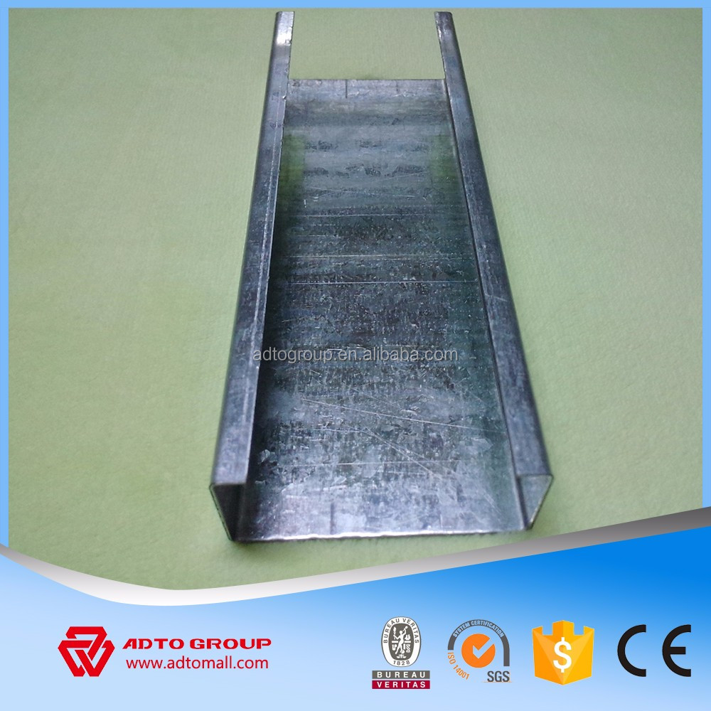 Different sizes metal studs dry wall partition keel metal studs