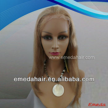 New arrival 5a 18inch 100% virgin brazilian human hair blonde lace front wigs