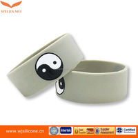 free gifts children wrist band silicone bracelet key ring