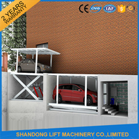 Double platform garage equipment hydraulic garage equipment with CE