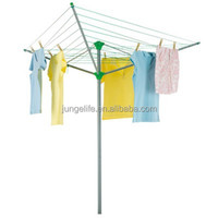 3 ARMS OUTDOOR PAINTING METAL ROTATING CLOTHES RACK