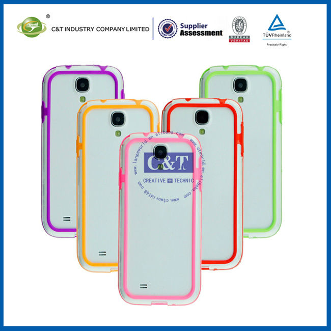 C&T Frame Bumper pc tpu case for samsung galaxy s4