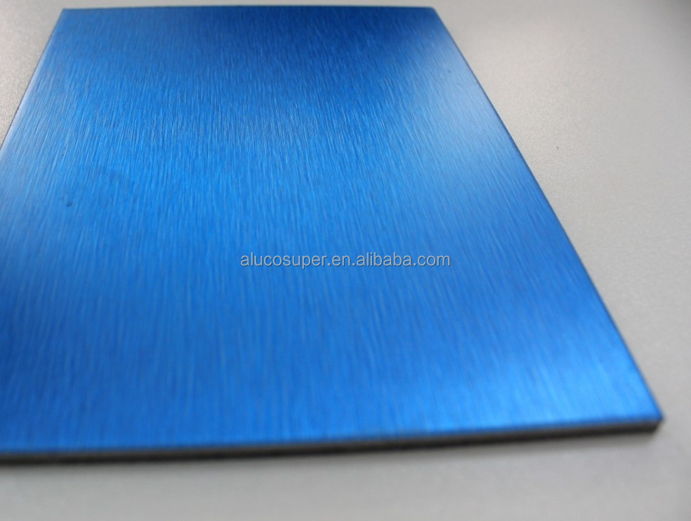 Brushed Aluminum Composite Panel : Brushed blue pe pvdf aluminum composite panel acp acm