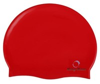 Red silica gel swimming cap water-proof swimming pool swimming cap