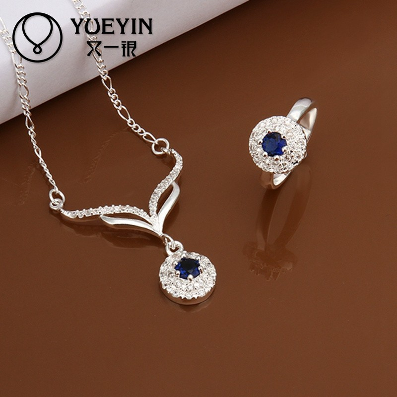 2014 925 wholesale <strong>beautiful</strong> diamond jewelry set