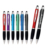 2017 light up logo ball pen with stylus phone plastic pen for festival gifts