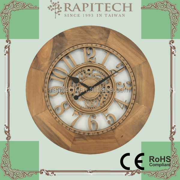 New Product Decorative Natural Wooden Wall Clock