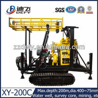 XY-200C track drill machine for water well,soil investigation