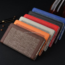 Retro For iPhone 7 4.7 inch Wallet Case Cover Shell Luxury Linen Leather Phone Case Grain Phone Case