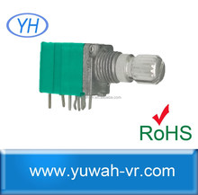 9mm 10k rotary dual potentiometer with switch