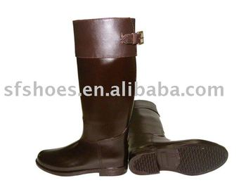 100% waterproof fashion pvc horse riding boot for sport