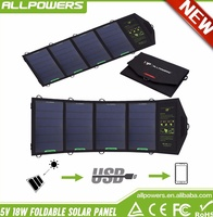 18W Solar Panel Charger for Cell Phone iphone ipad Air Mini Samsung Galaxy Note Smartphones and Tablets