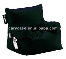 Comfort Research Big Joe Dorm Bean Bag Chair in black, Fashion durable dustproof beanbag sofa armchair with carry handle