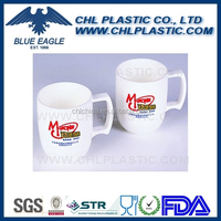 Custom plastic coffee mug for promotion