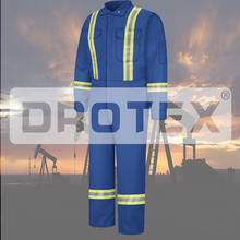100 Cotton Mens Winter Waterproof Anti-Static Antistatic Fire Oil Resistant Oil Field Welding Coverall Workwear With Reflector