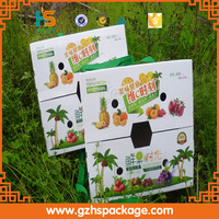 Wholesale corrugated fresh vegetable packaging carton boxes, hot sale cheap fruit packaging box