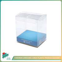 JUNDA New Products Square Folding Popular Cake And Cupcake Plastic Packaging Box