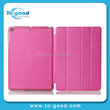 Hot Promotional Stand Ultra Thin Folio Cover Leather Case OEM Wholesale For Apple iPad 5 Air Case (Pink)