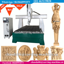 3D Architectural Elements Applique 4 Axis CNC Machine For Wood Carving