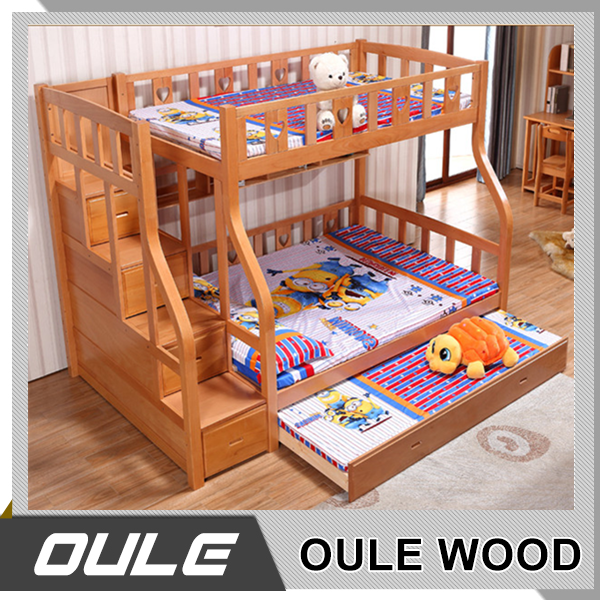 Manufacturer Of Wooden Double Full Over Queen Bunk Bed For Kids