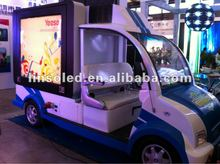 Outdoor Mobile LED Screen Video Advertising Vehicle&Motorcycle&Scooter&Car