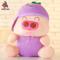 custom cute plush animal toys pig wholesale