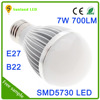 Free Sample China 7W E27 wholesale daylight led dimmable bulb light mini bulb light covers 7w e27