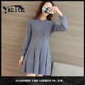 Women sweater dress fall winter fashion new style ladies clothing woolen sweater designs for ladies