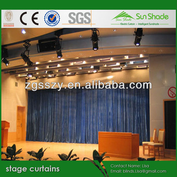 Discount sales for motorized manual stage theatre curtains for Motorized curtains home theater