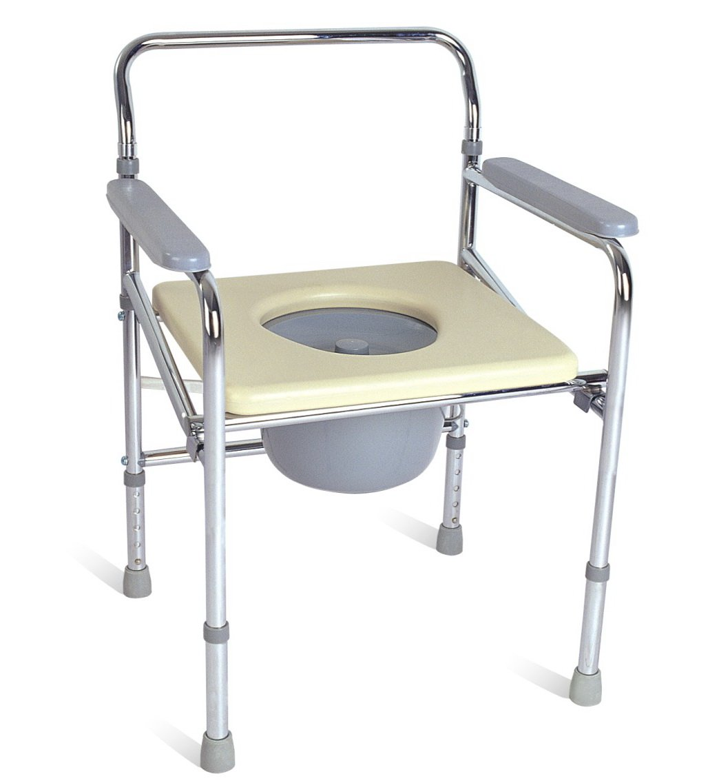 Folding commode chair - Chrome Frame Steel Foldable Commode Chair Without Wheels Buy Commode Without Wheels Folding Steel Commode Chair Toilet Chair Product On Alibaba Com