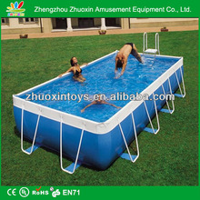 2014 above ground pvc swimming pool with metal frame canada