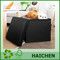 PVC Faux Leather Stool Storage Box