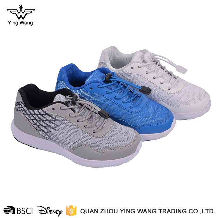 White color soft mesh upper phylon outsole runnjng sport shoes for kids