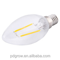 Factory wholesale trade assuracne 2w 4w C35 super high lumen edison led bulb lights, edison christmas bulb lamp