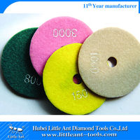 wet diamond polishing pad/machine to polish marble floor
