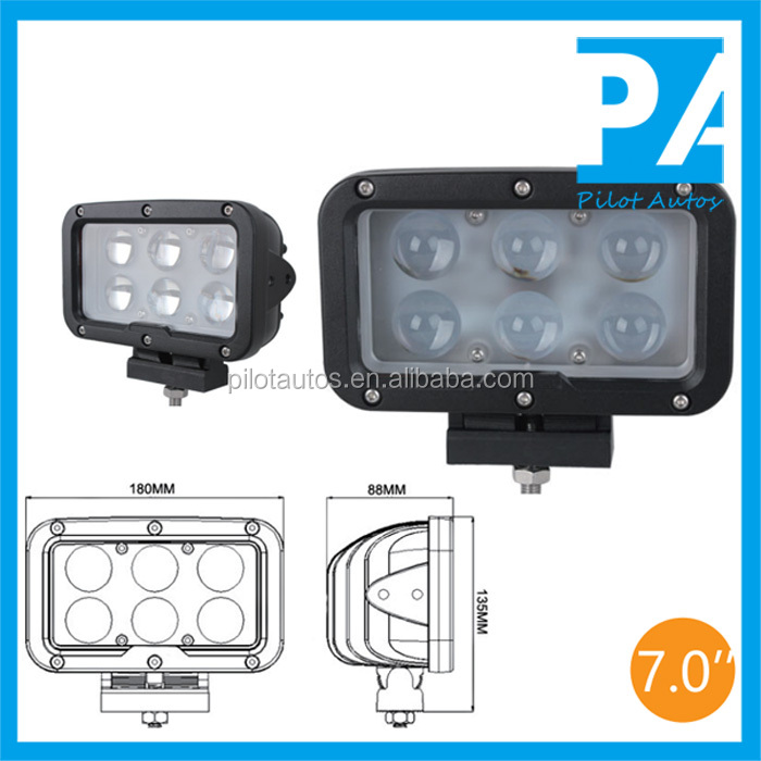 "Spot Flood Combination 60W 7.0"" inch Driving Light For ATV SUV off road 4x4 heavy equipments Truck Jeep Motorcycle Boat 8060"