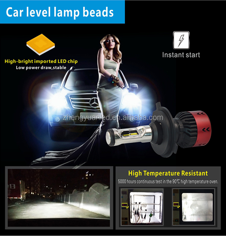 With fan design V1 V2 V3 V5 V6 H1 H3 H4 H7 H11 9005 9012 auto lamp headlight car led headlight car accessories