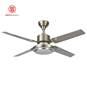 Modern 52 inch brushed nickel 220v ceiling fan light