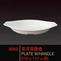 Hot sale 5 star clear melamine plate
