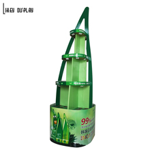Makeup Products Stands, 4-way Display Stand Corrugated for Skin Care Aloe Gel Promotion