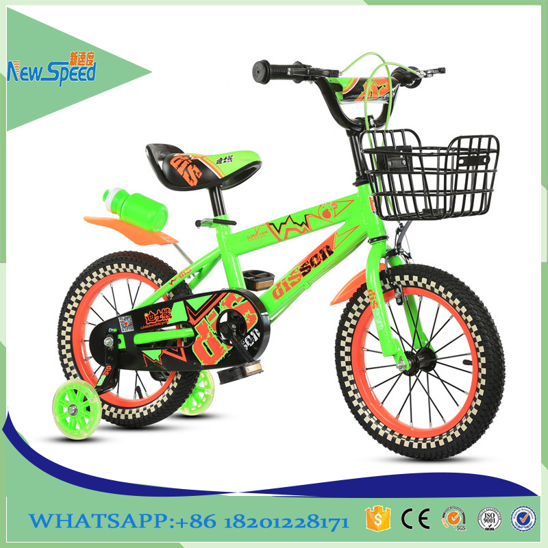 Outdoor 14inch green children bicycle for 8 years old child