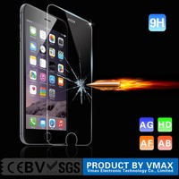 Brand Vmax !! Mobile Phone 9h milo 0.33mm tempered glass screen protector for iphone 6