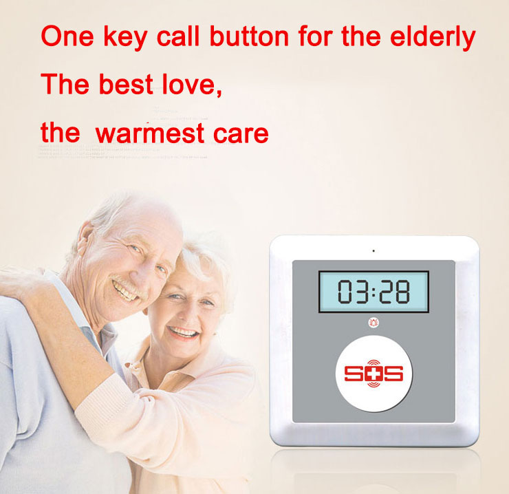 One key call button for the elderly panic situation