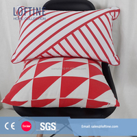 Geometrical digital printed cotton canvas printed cushion