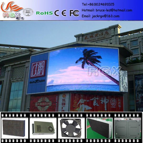 RGX high quality super bright waterproof outdoor electronic p8 outdoor led display See larger image high quality super bright w