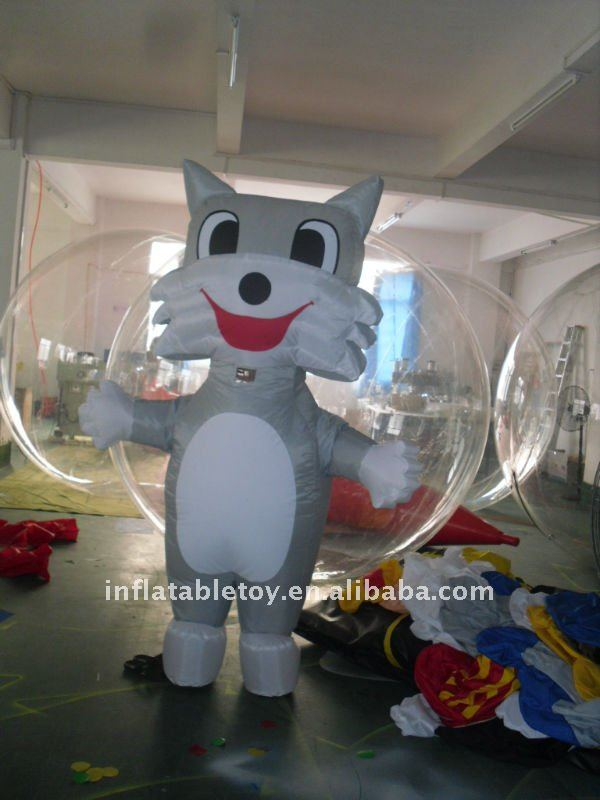 inflatable advertising fat cat moving cartoon